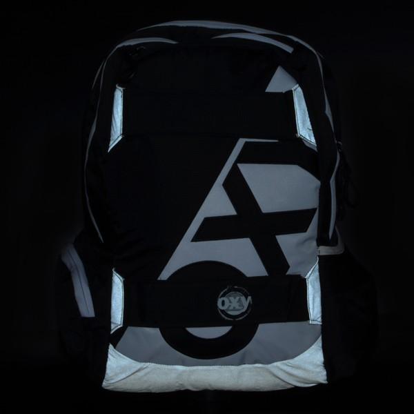 3cd8706691f6 ... Iskola hátizsák OXY Sport Black & White fekete fehér felsősöknek