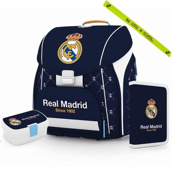 7a7561acad7d Iskola táska anatómiai Premium Real Madrid - SZETT és fényvisszaverő  karkötő és szállítás ingyén