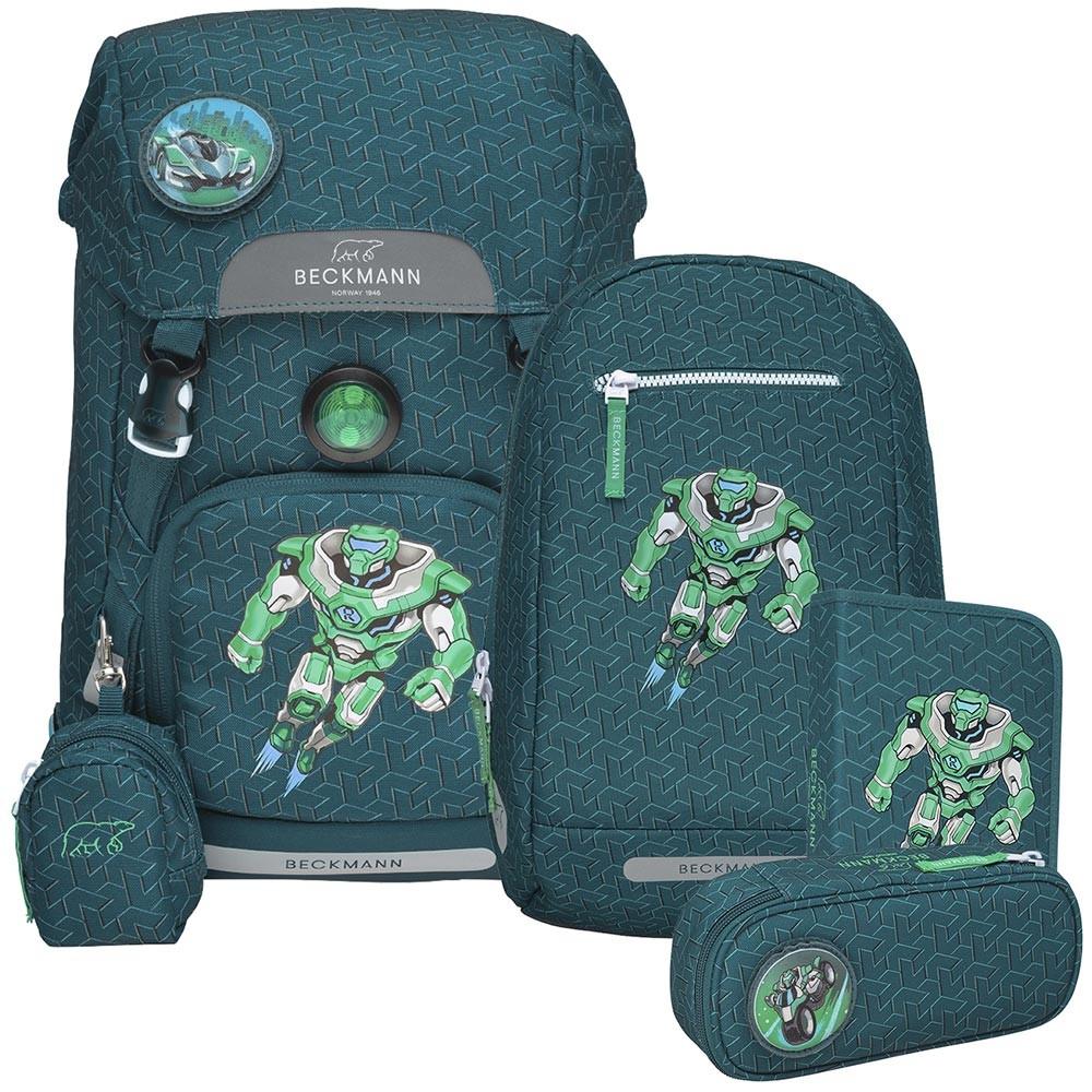 Beckmann Roboman 4 részes iskolai hátizsák szett és ingyenes szállítás