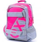Iskola hátizsák OXY SPORT NEON PINK szürke neon rózsaszín felsősöknek bc06cd310b