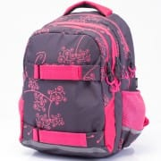 ce914e834ba1 Iskola hátizsák OXY One Pink szürke rózsaszín lányoknak felsősöknek