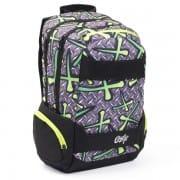 5f85d0bc6f28 Iskola hátizsák OXY Sport Neon Dark Blue sötét kék neon zöld ...